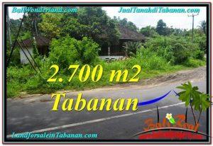 DIJUAL TANAH di TABANAN BALI Untuk INVESTASI TJTB299