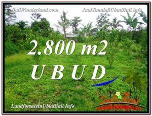 DIJUAL TANAH di UBUD BALI 2,800 m2 di Ubud Tegalalang
